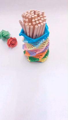 Diy Crafts For Home Decor, Diy Crafts Hacks, Diy Crafts For Gifts, Diy Arts And Crafts, Craft Stick Crafts, Creative Crafts, Cool Paper Crafts, Paper Crafts Origami, Origami Art