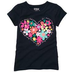 Short-Sleeve Embellished Graphic Tee | Girl Tops