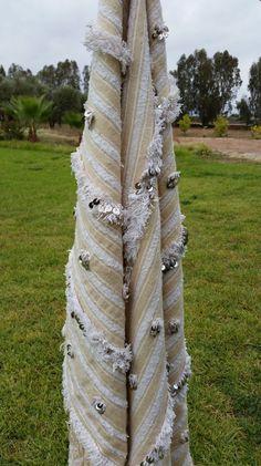 Drappo il tuo letto, parete o divano con una coperta di matrimonio marocchino esotico,    Dimensioni: BOLI09 193 X 110 cm   76 x 43 pollici