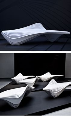 Serac Bench by Zaha Hadid. I really love this woman.