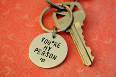 Youre+My+Person+Key+Chain+Greys+Anatomy+Quote+Love+by+SonoArts,+$12.00