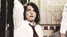 Gerard looks so pretty<<< IKR when i first saw the 'i'm not okay' video i actually thought he was a chick for a second. a rly hot chick