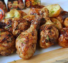 cum se fac cele mai bune fragede pulpe marinate la gratar Tandoori Chicken, Tasty, Cooking, Ethnic Recipes, Mai, Gardening, Foods, Diet, Recipes