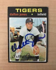 DALTON JONES DETROIT TIGERS SIGNED AUTOGRAPHED 1971 TOPPS CARD #367 W/COA #Topps