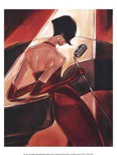 New Modern Portrait Oil Paintings Painting Canvas Wall Art Musical Fever karaoke Arte Jazz, Jazz Art, African American Art, African Art, Era Do Jazz, Scrapbooking Image, Art Du Monde, Art Deco Posters, Grafik Design