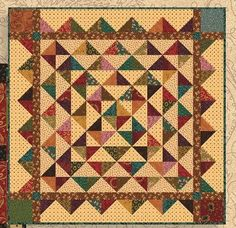 The pattern for July is Hopscotch by Kim Diehl