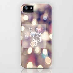 To love beauty is to see light iPhone & iPod Case by secretgardenphotography [Nicola] - $35.00
