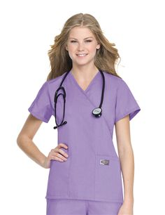 2b2b8890e18 Medical fashion and apparel by Landau Scrubs introduces our Womens Faux  Wrap Tunic style number Let us dress you for comfort and success.