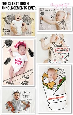 The Cutest Birth Announcements in All the Land