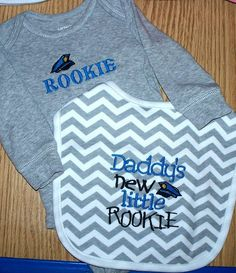 Police Officer Baby Boy Gift Set  Daddy's new by LittleTexasBabes