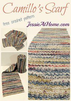 One Dozen New #Crochet Patterns from @jessie_athome - crochet scarf pattern by jessie