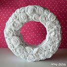 Crepe Paper Rosette Wreath-- Beautiful for Spring! @Lindsay Dillon {artsy-fartsy mama}