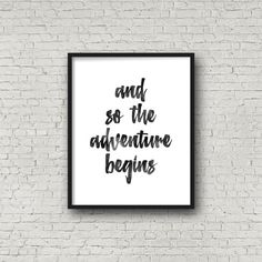 Typography Poster And So The Adventure Begins от PrintsDigital