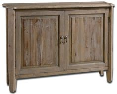 Altair Reclaimed Wood Console Cabinet by Uttermost – Innovations Designer Home Décor & Accent Furniture