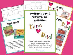 Mother's and Father's Day Books/Activities