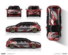 The approved wrap design for VW Golf 7 for Sourkrauts