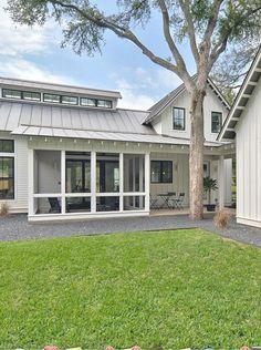 Modern farmhouse exterior- tim brown architecture texas farmhouse, modern f