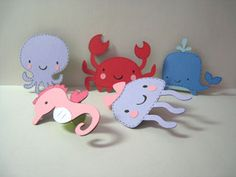 Scrapbooking Article: Summer Crafts for Kids-these little underwater animal finger puppets would be so cute to make
