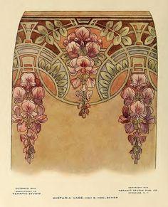 52 Trendy Ideas For Embroidery Rose Art Nouveau Fleurs Art Nouveau, Motifs Art Nouveau, Art Nouveau Flowers, Art Nouveau Pattern, Art Nouveau Design, Art Nouveau Tattoo, Art Deco, Book Design, Design Art