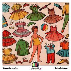 Chicas... ¿Recuerdan las muñecas recortables? RetroReto.com