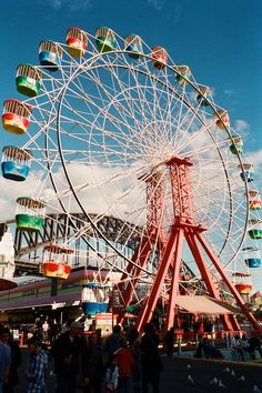 Ride the ferris wheel at Luna Park Australia Capital, Australia Travel, Sydney Australia, Places Around The World, Travel Around The World, Around The Worlds, Circus Aesthetic, Sydney New South Wales, Amusement Park Rides