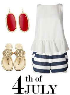 4th of July outfit #red #white #blue