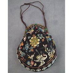 Antique Chinese Qing Dynasty embroidered Silk Hand Purse to Robe  $680 USD