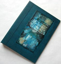 Handmade Journal Refillable Blue Green Rice Paper Collage 8x6 Original on Etsy, $43.91 AUD
