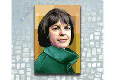 Ingeborg Bachmann, Pop Art, Tribute, Portrait, Etsy Shop, Fictional Characters, Print To Canvas, Writers, Canvas Frame