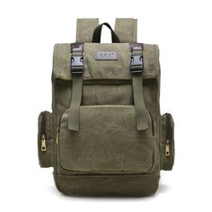 Travel Military Men Rucksack Shoulder Canvas Satchel Laptop School Bag Backpack in Clothing, Shoes & Accessories,Men's Accessories,Backpacks, Bags & Briefcases | eBay
