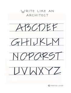 Architectural Creative Lettering, Cool Lettering, Lettering Styles, Lettering Design, Architectural Writing, Architectural Lettering, Handwriting Styles, Handwriting Fonts, Penmanship