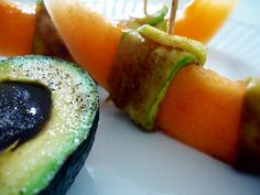 Raw on $10 a Day (or Less!): Avocado Eggs and Cantaloupe ~ a Raw and Vegan Breakfast