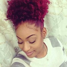 Hair color and cute up do