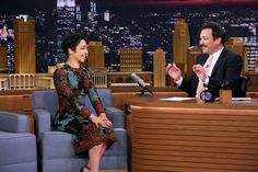 Ruth Negga Brightens Up The Tonight Show Starring Jimmy Fallon By Wearing a Dark DG Dress