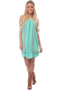 Lime Lush Boutique - Jade Sleeveless Dress with Front Embroidery, $42.99 (http://www.limelush.com/jade-sleeveless-dress-with-front-embroidery/)