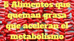 5 Alimentos que queman grasa que aceleran el metabolismo