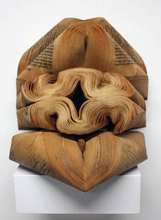 Book sculptures by Jessica Drenk