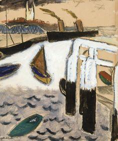 Gustave De Smet - Le port d'Ostende (1925)