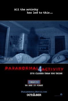 Paranormal Activity 4 opening October 19th. Buy tickets at www.studiomoviegrill.com