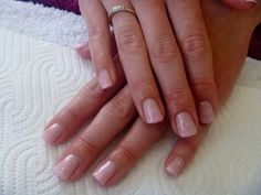 Soft pink gel polish colour fade