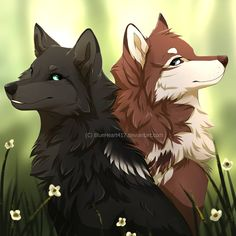 Sister by on DeviantArt Animal Sketches, Animal Drawings, Cute Drawings, Wolf Drawings, Furry Wolf, Furry Art, Anime Lobo, Anime Wolf Drawing, Wolf Artwork