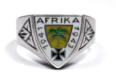 AFRICA CORPS WW2 GERMAN SILVER RING  http://germanring.lv/en/dak/126-africa-corps-ww2-german-silver-ring.html