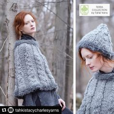 I loved doing this photoshoot- a misty rainy day meant we went all limited palette with the beautiful natural Terra Collection yarns. #galezuckerphotography #locationphotography #knitwearfashion  #Repost @tahkistacycharlesyarns with @repostapp  Mock cables radiate front the top of the Silver Fir Capelet in BIG MONTANA and GLACIER growing in width as they reach the bottom edge. Silver Fir can be found in our Oh Natural! Collection which can be pre-ordered on our website.  #fashion #yarn…