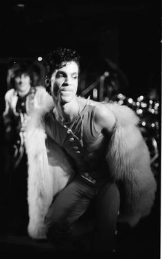 Classic Prince | 1986 Parade Tour Aftershow Busby's London, England, August 12, 1986 with Ronnie/Ron Wood of the Rolling Stones behind him playing guitar!