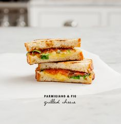 parmigiano & fig grilled cheese / loveandlemons.com