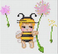 abeille - bee - point de croix - cross stitch - Blog : http://broderiemimie44.canalblog.com/