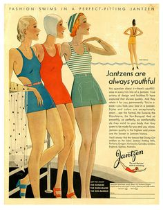 Jantzen. #vintage #1930s #swimsuits #ads