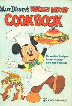 BIG! WALT DISNEY'S MICKEY MOUSE COOKBOOK ~ HC GOLDEN PRESS 1975