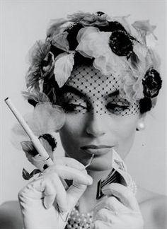 Anouk Aimée photographed by William Klein in Paris for Vogue, 1962.  #anoukaimee #williamklein