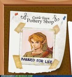 Link Legend of Zelda Pottery Life Ban